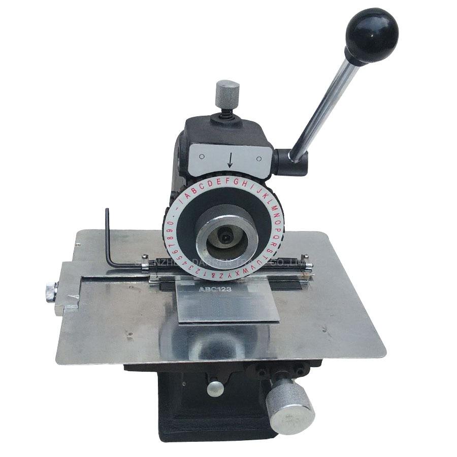 Manuale Macchina di Marcatura Targhetta di Alluminio, Rame, In Lamiera di Acciaio Macchina di Goffratura Strumento Plotter