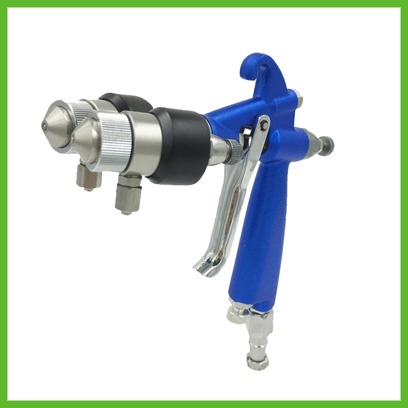 цена на SAT1201 professional high pressure mirror chrome paint powder paint spray gun compressed air sprayer high pressure dual nozzle