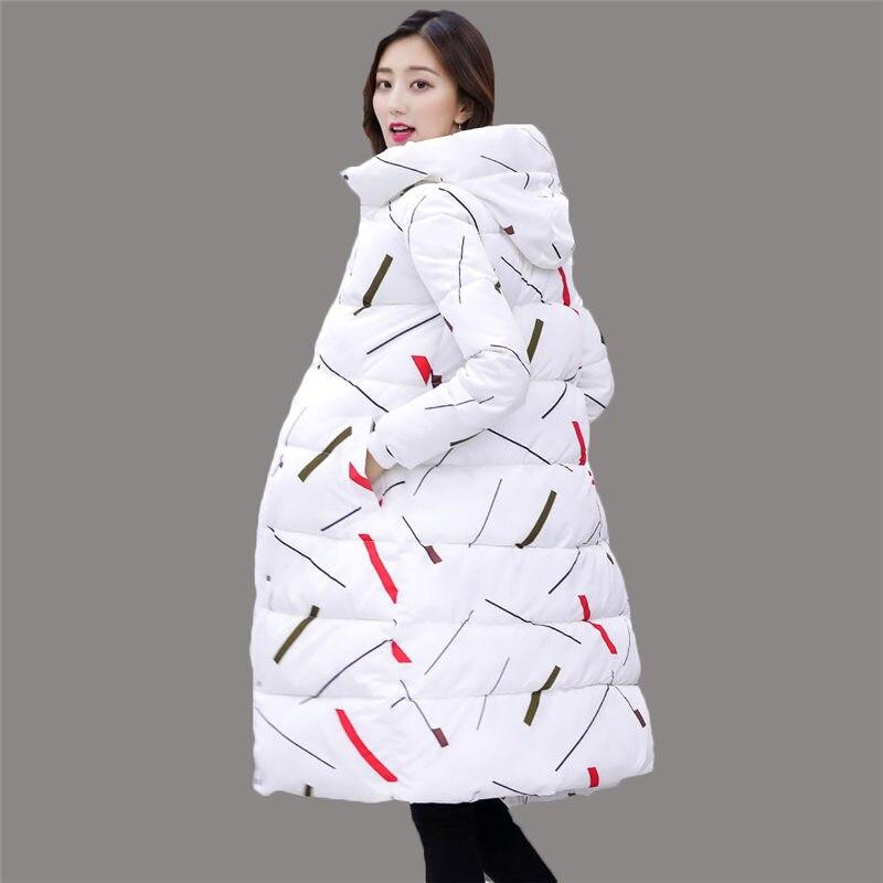 2018 Women Winter   Parkas   Female Warm Thicken Middle-Long Slim Hooded Jacket Women Cotton Padded   Parkas   coat M-3XL A1281