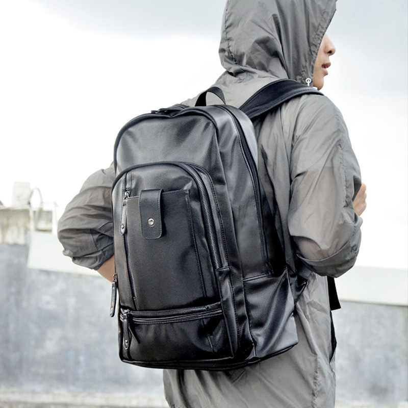 New Fashion Mens Business Backpack Leisure Simple Mens Travel Bag Large-capacity Trend Backpack Commuter OL Mens Computer BagNew Fashion Mens Business Backpack Leisure Simple Mens Travel Bag Large-capacity Trend Backpack Commuter OL Mens Computer Bag