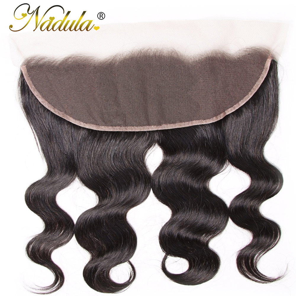Nadula Hair  Body Wave Lace Frontal 13*4 Swice Lace 10-20inch  Hair 100%   Ship Free 2