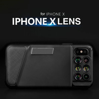 6 in 1 Phone Lens Wide Angle Fish Eye 20X Macro Telephoto for iPhone X Case with Camera External Camera for iPhone 7 8 plus Ten