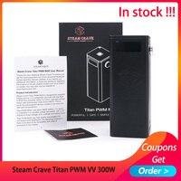 Newest Steam Crave Titan PWM VV 300W Box MOD Fit Aromamizer Titan RDTA 25ms Fast Firing E cigarette Mod huge vapor vs drag mini