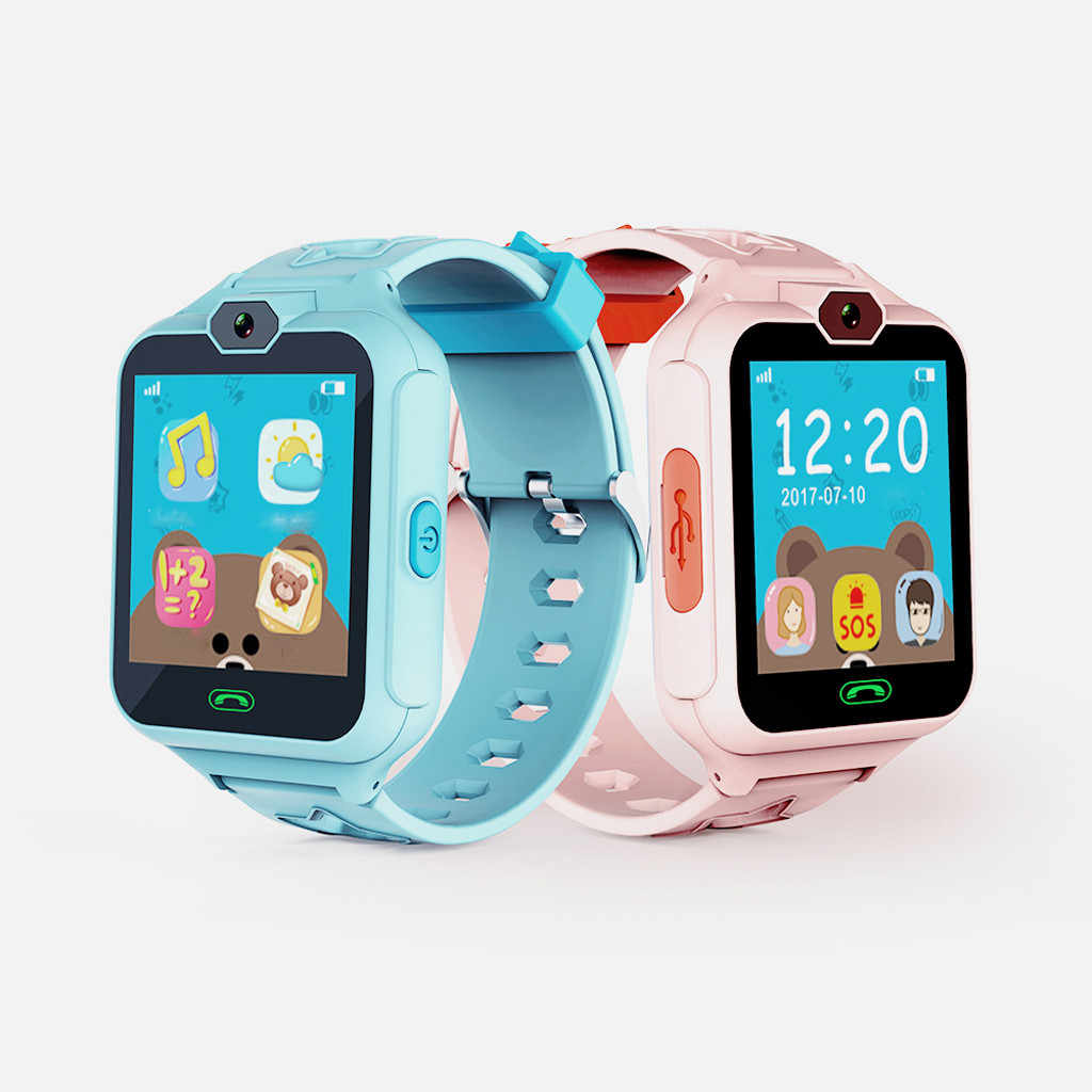 Simple Kid Smart Watch Boys Girls Baby Watch LBS Position Tracker Phone Answer Children Watch Support for Android phones