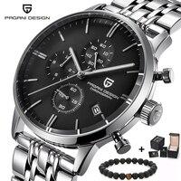 PAGANI Дизайн Роскошный Топ бренд Простой хронограф из нержавеющей стали мужские часы военные кварцевые наручные часы платье часы мужские