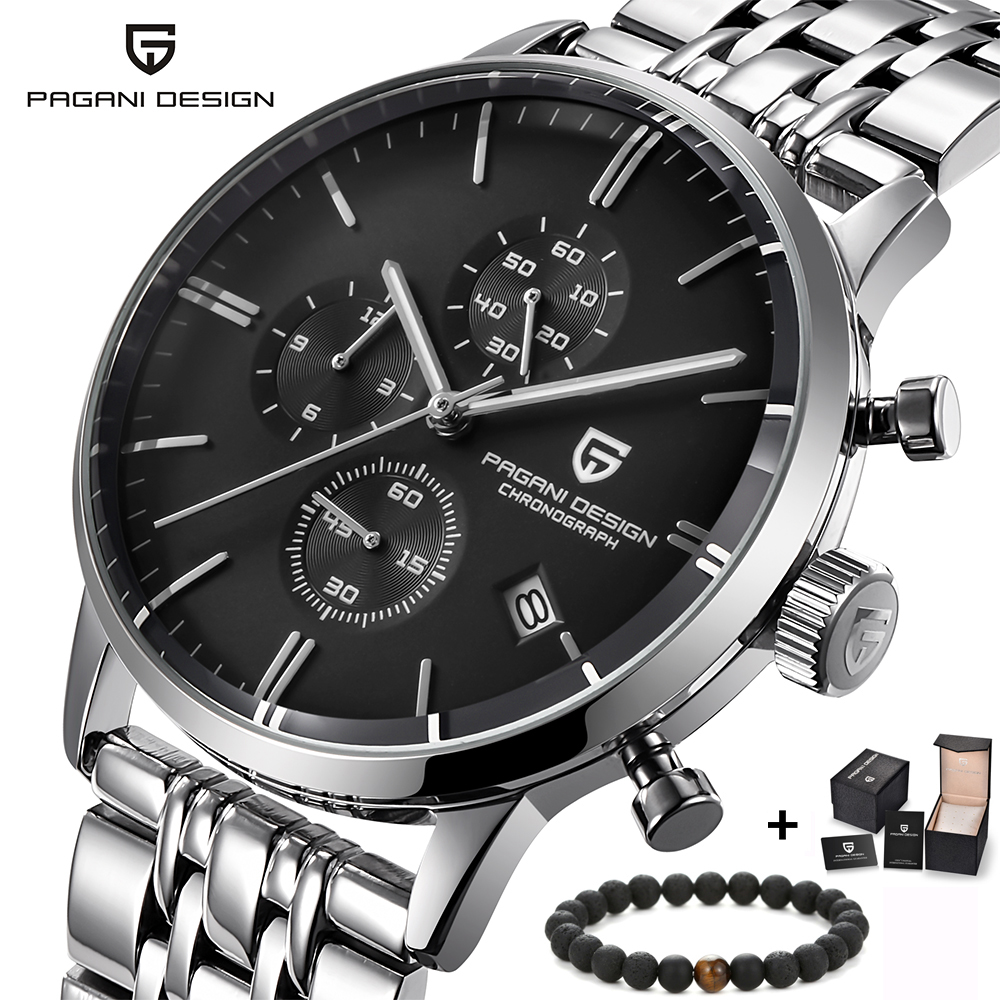 PAGANI design luxe Top marque simple chronographe en acier inoxydable montre pour hommes montre à Quartz militaire montres robe horloge mâle