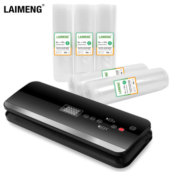 LAIMENG Compact Vacuum Sealer Fully Automatic Vacuum Air Sealing System For Food Preservation With starter Kit  Lab Tested S261