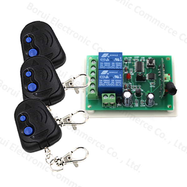 DC12v 10A relay 2CH wireless RF Remote Control Switch 3 Transmitter+1 Receiver dc12v remote control switch rf control toggle latch 8ch receiver transmitter kits free shipping