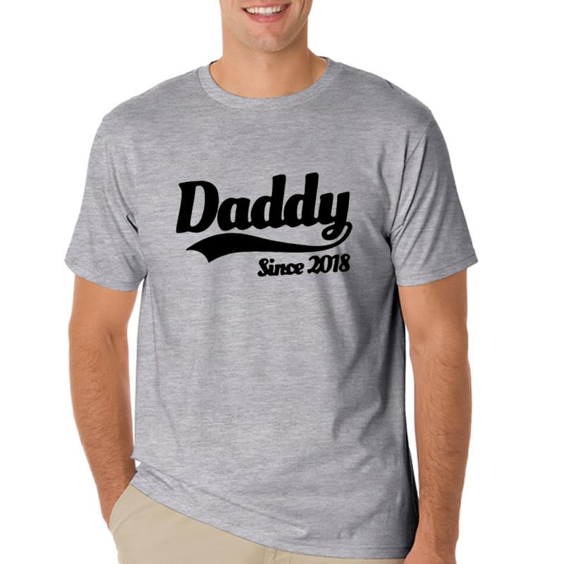 T-shirt Men Fashion Fathers Day Happy Harajuku Summer Style Cotton Mens T Shirt Casual Tops Tees Fitness Men T-shirt Camisetas