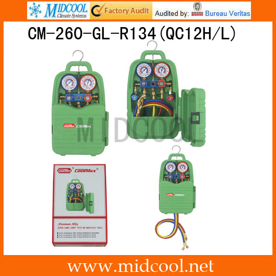 Hand-carry manifolds operation CM-260-GL-R134(QC12H/L)Hand-carry manifolds operation CM-260-GL-R134(QC12H/L)