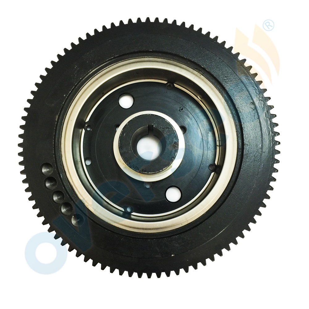 OVERSEE 66T-85550-10 Outboard Flywheel E40X 40XMH Rator Replaces For 40HP 2stroke Electric For Fits Yamaha Flywheel Parsun