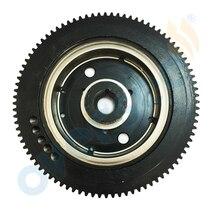 OVERSEE 66T 85550 10 นอก Flywheel E40X 40XMH Rator แทนที่สำหรับ 40HP 2 จังหวะไฟฟ้าสำหรับเหมาะกับ Yamaha Flywheel Parsun