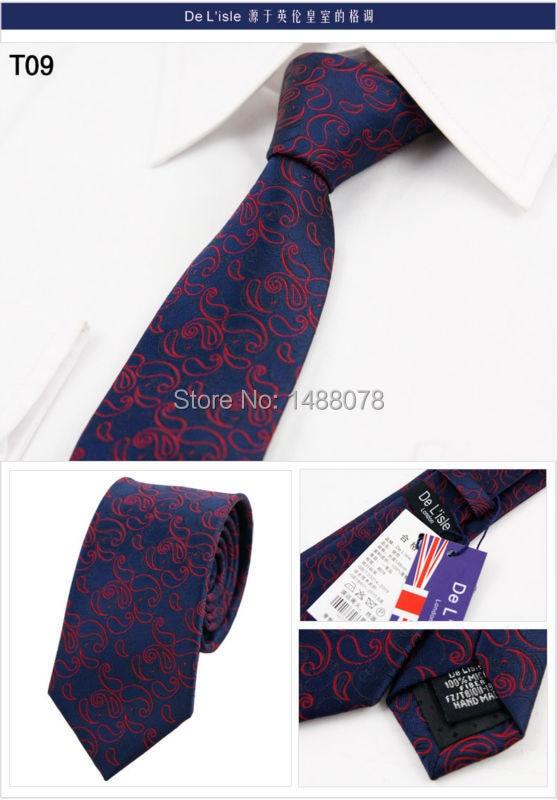 Navy Red Paisley Tie 2M6-15++
