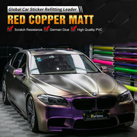 Carbins Film Red Copper Color Changing Film Wrap Vinyl for All Car Type Model Styling Custom Decal