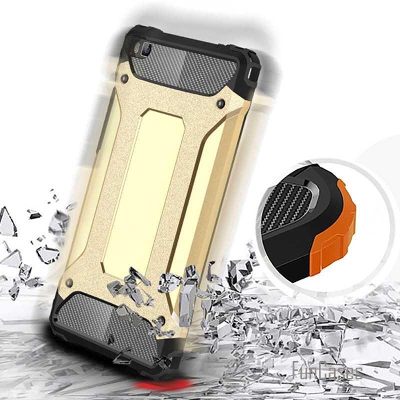 Per huawei p8 Anti Bussare Armatura custodia in plastica + TPU caso ibrido per Huawei Ascend telefono cvoer P8 sottile duro duro borse fundas capa