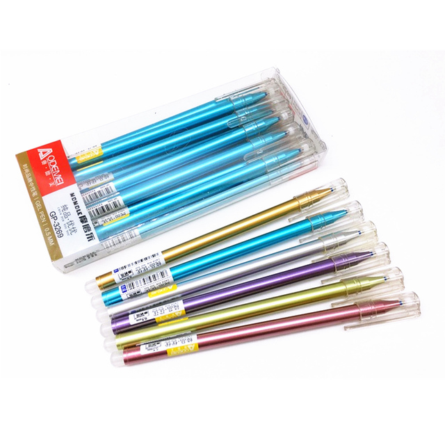 Delightful Erasable Pen Nib 0.5mm Golden Luster Pen Ballpoint With Cartridge Sales  Gifts Boutique Student Stationery