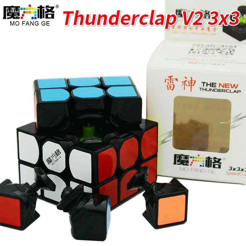 Qiyi Mofangge New Thunderclap V2 3x3x3 Magic Cubethunder Clap Puzzles Cube Professional Speed Magico Cubo Traditional Cube Toys Tool Bags