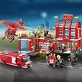 Nuevo 970 Unids de Bomberos de La Ciudad de Incendios Serie Administración Figura de Acción Juguetes Figuras Building Blocks Juguetes Compatibles Con Ladrillos