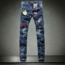 2017 New Arrival Man Jeans High Quality Denim Pants Cotton broken hole Brand Design Populat Jeans