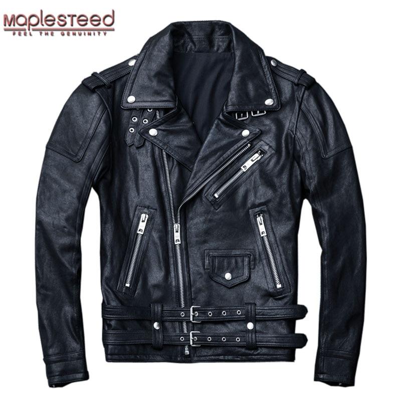 Maplesteed 100% natural pele de carneiro bronzeada jaqueta de couro preto macio motocycle jaquetas roupas do motor motociclista casaco outono m111