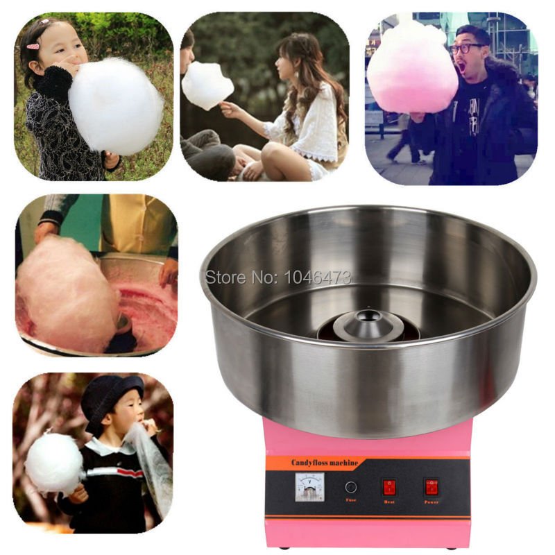 (Ship from EU) 1030W Commercial Cotton Candy Machine Candy Floss Maker Fairy Floss Machine with Big Stainless Pan 220V new 7 inch touch screen digitizer glass panel replacement for dexp ursus 7mv3 3g