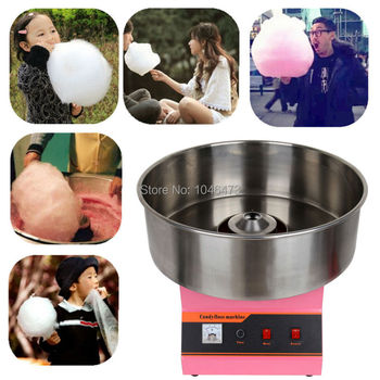 1030W Commercial Cotton Candy Machine Candy Floss Maker suikerspin Machine with Big Stainless Pan zucchero filato