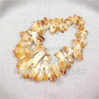 H CCB Crystal Quartz Citrin e Point Briolette Beads