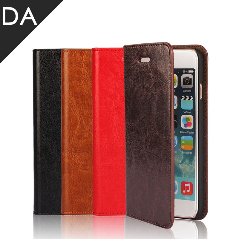 TZEON Genuine Leather Flip Case For iPhone X 8 7 6 Plus Luxury Vintage Card Wallet Cover For Apple iPhone Qin holder Cover Case