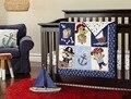 Promoción! 7 unids bordado del niño del bebé cuna parachoques conjuntos del algodón del bebé cuna parachoques, incluyen ( bumpers + funda nórdica + cubierta de cama falda de la cama )