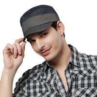 Envío gratis Kenmont primavera otoño hombres militar vendedor de periódicos gorras militares sombreros alta calidad viscosa poliéster Spandex Navy café 0572