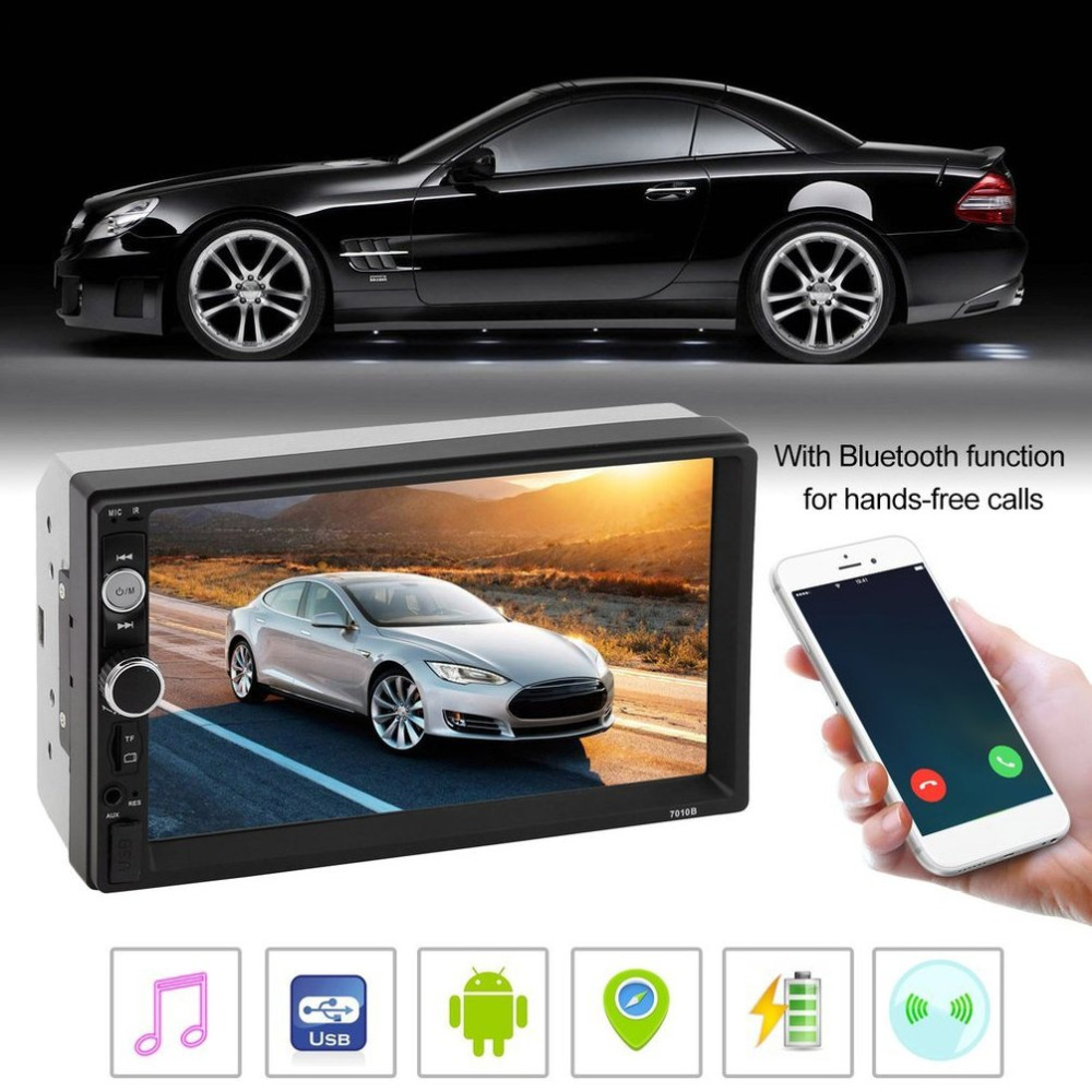7010B 7 inch Car MP5 Multimedia Player 2 Din Radio Touch Screen Bluetooth FM USB AUX Support Rear View Camera Top Sale 7 inch touch screen 2 din car multimedia radio bluetooth mp4 mp5 video usb sd mp3 auto player autoradio with rear view camera