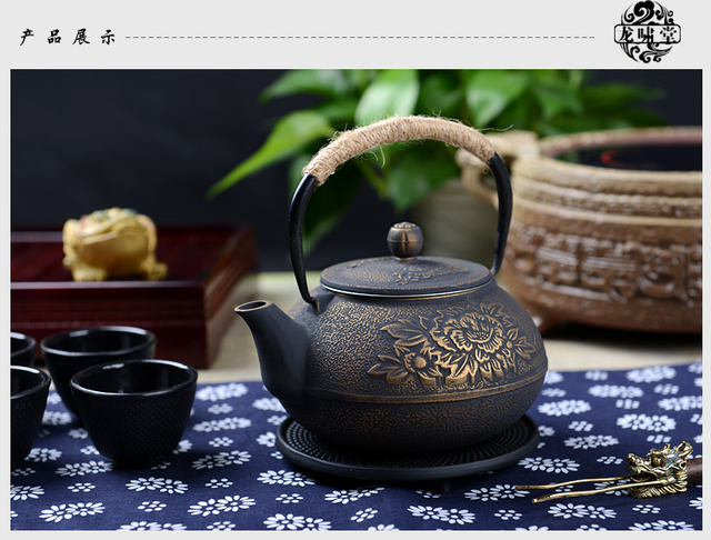 Hot Sale Cast Iron Pot Uncoated Iron Teapot Southern Japan Japanese