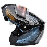 Veer ontwerp open gezicht motorhelm, Motorbike motocross YEMA 920 knight Racing helmen, Hot verkopen