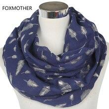 FOXMOTHER модные женские белые темно-синие желтые бронзовые фольга Серебряное перо кольцо шарфы шейный шарф блестящий платок