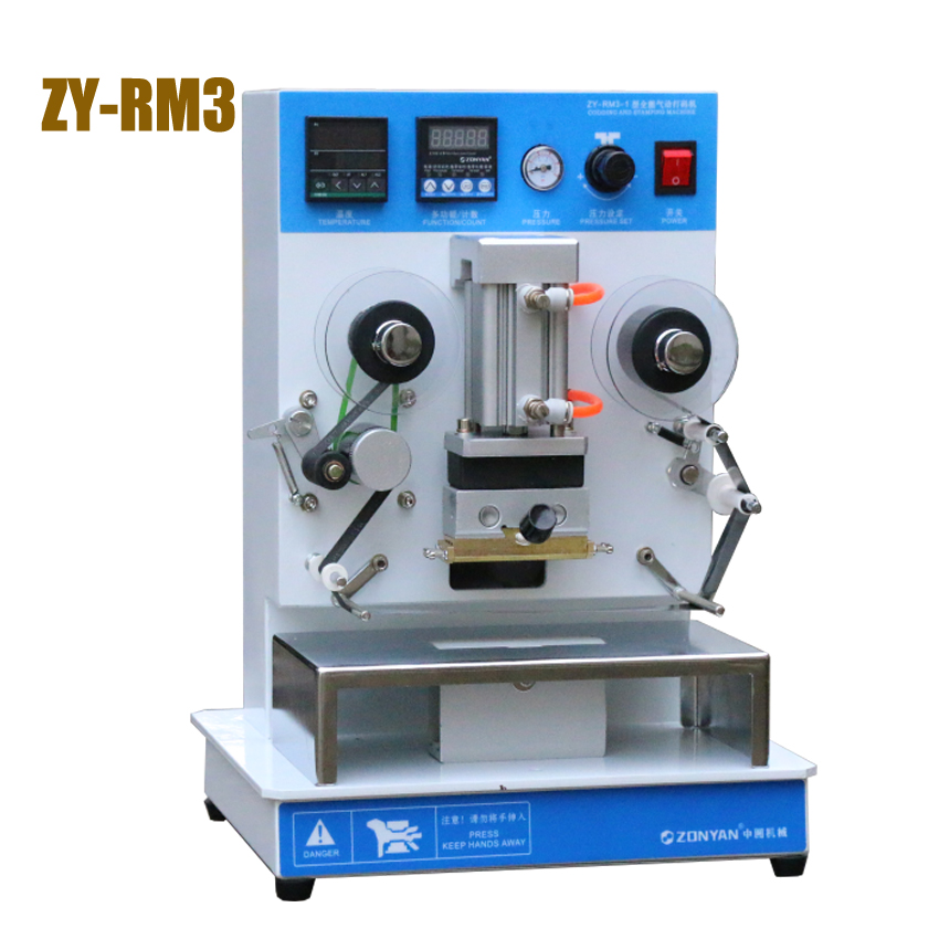 1PC Hot sale ZY-RM3 Pneumatic hot stamping machine Leather embossing LOGO Branding machine 220V Vertical