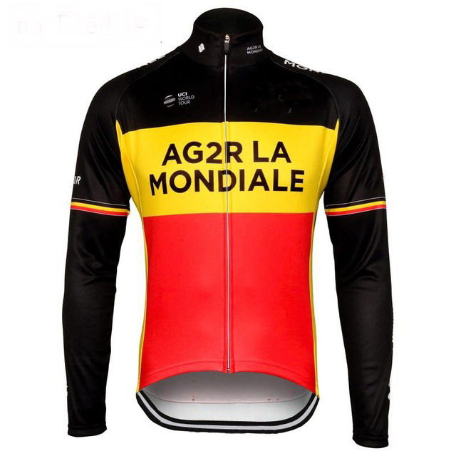 ca8ed5000 SPRING SUMMER Cycling Jerseys 2018 AG2R PRO Team 2 COLORS Mtb Long Sleeve  Men Bike Wear Cycling Clothing-in Cycling Jerseys from Sports    Entertainment on ...