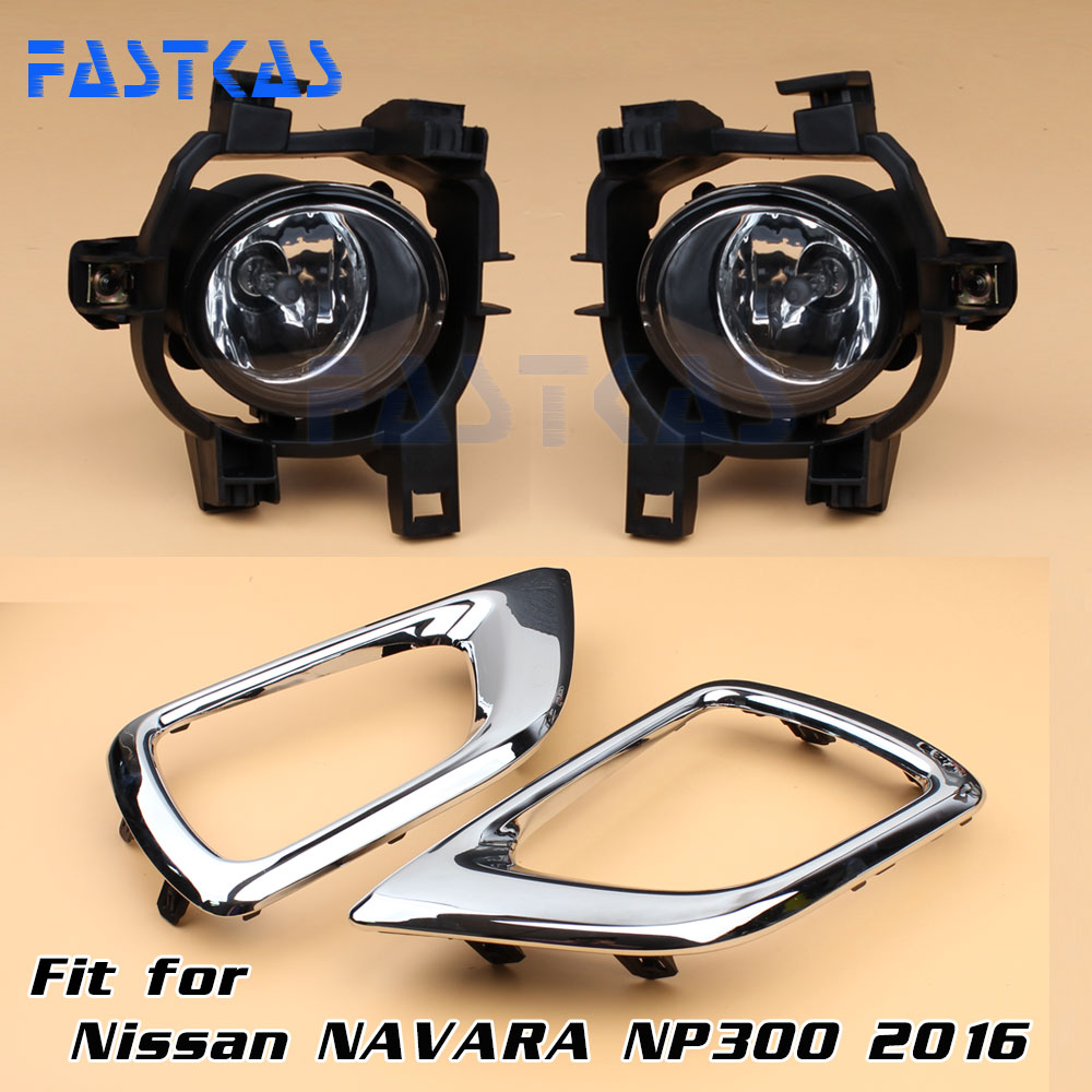Car Fog Light for Nissan NP300 Navara 2016 Left Right Bumper Fog Lamp with Switch Harness