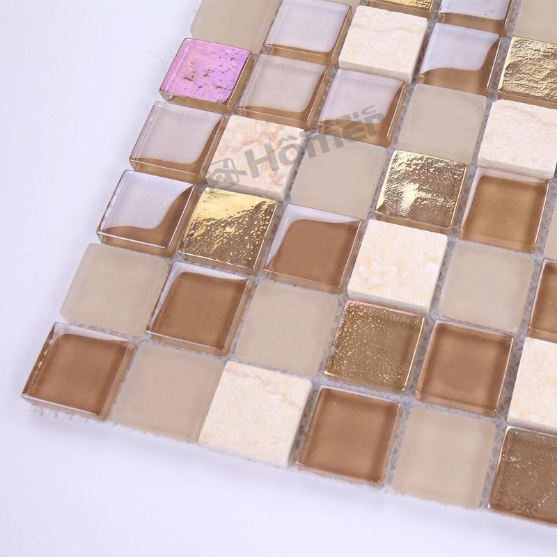 express shipping free light brown crystal and marble mosaic tiles backsplash tiles bathroom