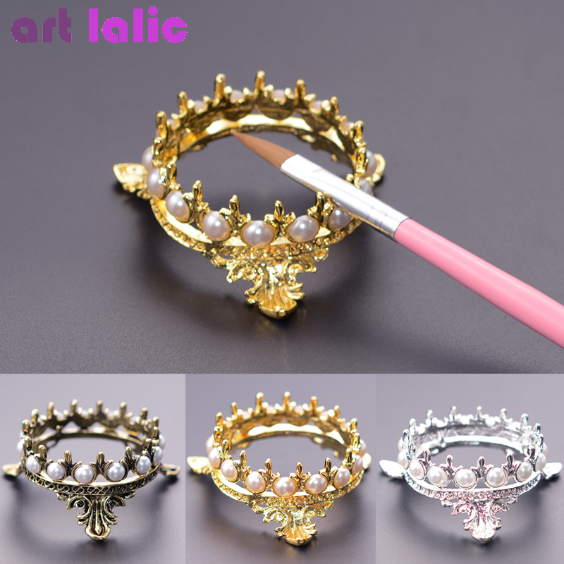 Crown Design Nail Art Brush Holder Set Pen Displayer Stand Tools Acrylic UV Gel Brush Rest Holders For Nail Decorations