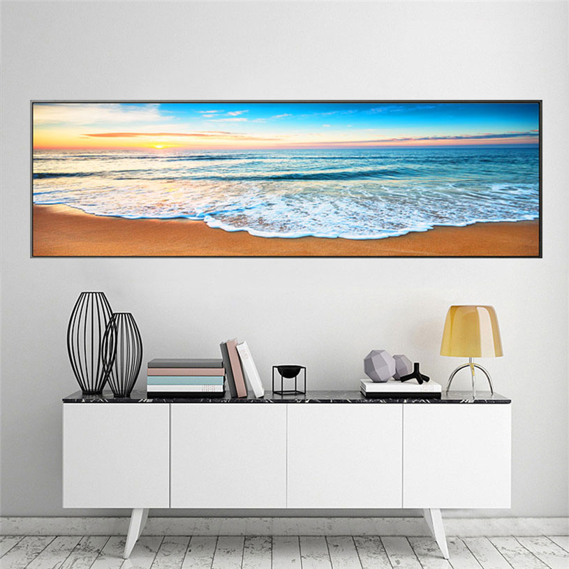 Realistic Wall Art seascape Canvas Painting beach Posters And Prints Pictures living room Decor