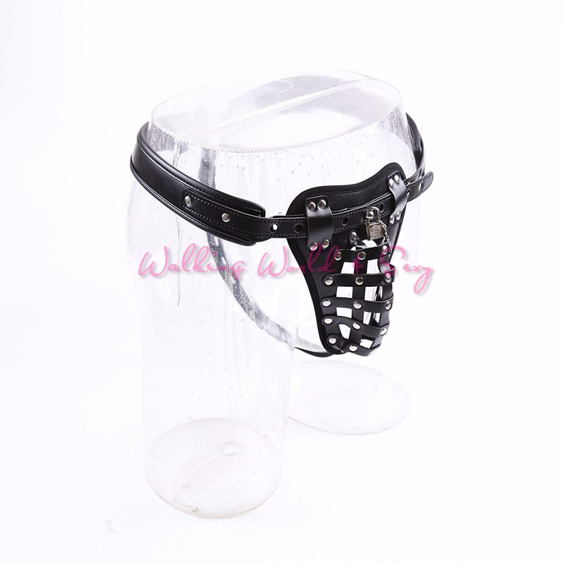 Leather Cock Cage Strap On Penis Harness Stretcher Restraint Bondage Fetish Male Chastity Device Adult Game Sex Toys For Men Gay (14)