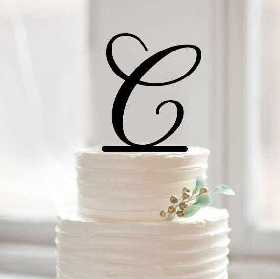 custom letter c cake topper monogram letter cake toppers gold glitter baby shower birthday party decoration for wedding gift in cake decorating supplies
