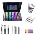 88 Color Shimmer Matte Eyeshadow Powder Palette+6pcs Eye Brush Set Eyebrow Blending Pincel Maquiagem Makeup Brush Cosmetic kits