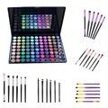 88 Color Shimmer Matte Eyeshadow Powder Palette+6pcs Eye Brush Set Eyebrow Blending Pincel Maquiagem Makeup Brush Cosmetic kits