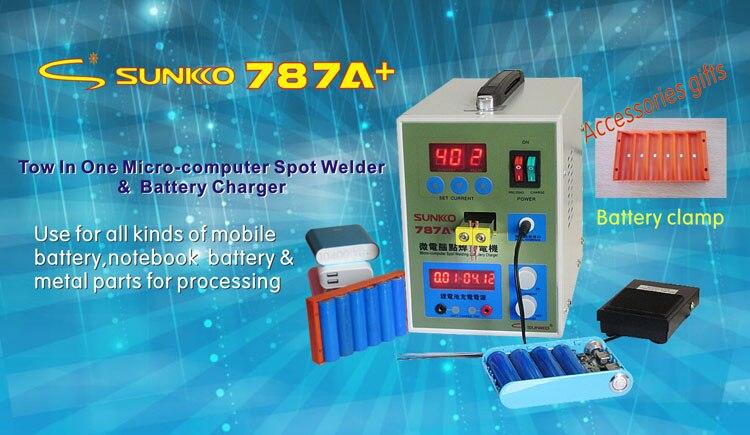 220 В Новый светодио дный импульса Батарея точечной сварки 787A + точечной сварки с светодио дный свет + Никель покрытием в полоску + Батарея заж...