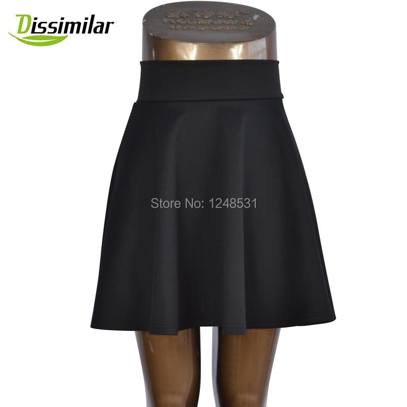 ingyenes szállítás Női Flared Skater szoknya Basic Solid Color - Női ruházat - Fénykép 2