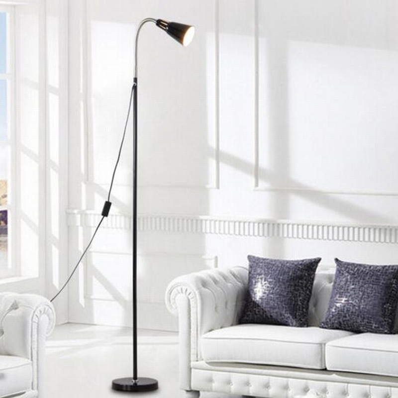 Simple modern living room bed creative study eye LED reading floor lamp hotel lamp french garden vertical floor lamp modern ceramic crystal lamp hotel room bedroom floor lamps dining lamp simple bedside lights