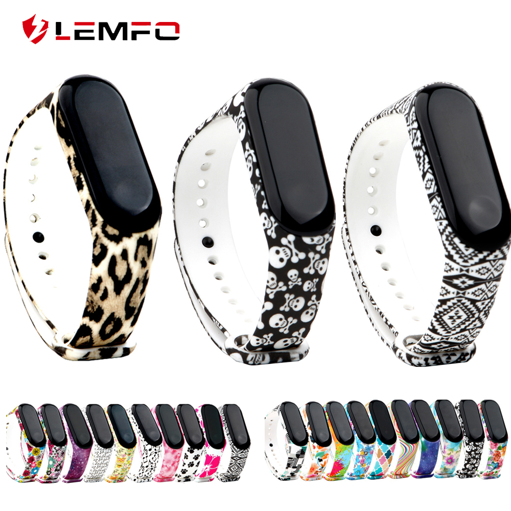 LEMFO Bracelets Wrist-Strap Mi-Band Watch Silicone Xiaomi for 4-Sport Colorful