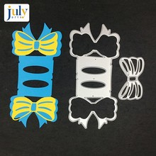 Julyarts Cutting Dies DIY Craft Scrapbooking Metal Silver New Bowknot Embossing Stamps For Card Making Decorative