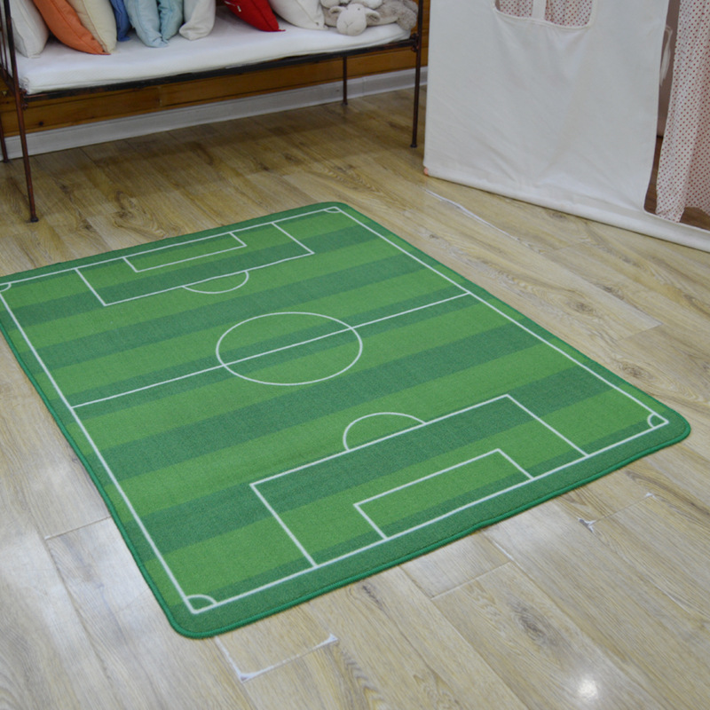 Children football field Bedroom Blanket Mat gate Carpet World Cup Stadium Carpets Living Room Superstar Parlor Rug